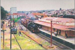 A estação foi inaugurada em 6 de novembro de 1875